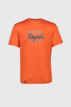 Mons Royale Mens Tarn Freeride T Orange Smash M